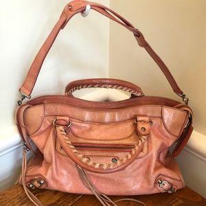 Balenciaga Pink/Peach Leather Shoulder Bag